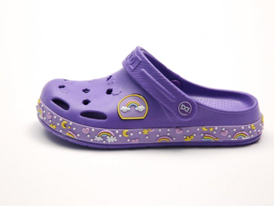 Сиреневые кроксы оптом C16-34, 4rest, детская обувь оптом, фото 1