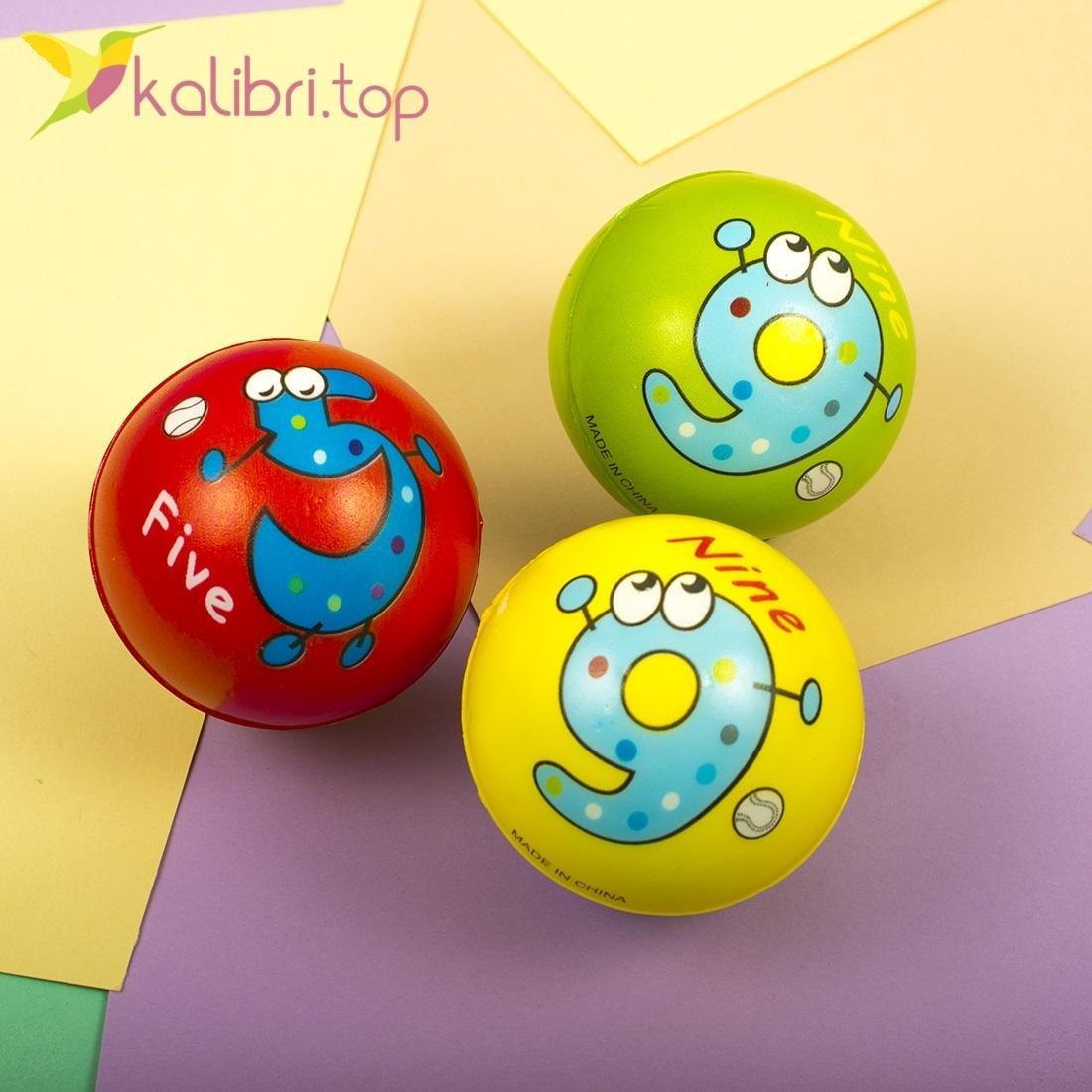 Мячи мягкие, поролоновые Цифры, оптом - фото 2