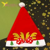Новогодняя шапка Деда Мороза бантик золото, оптом фото 1