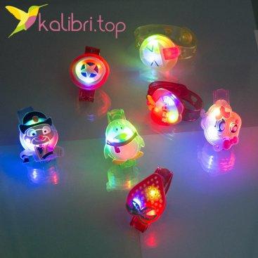 Детские светящиеся, силиконовые браслеты Микс оптом фото 2
