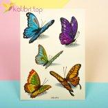 Детские татуировки с блесточками - бабочки оптом фото 1