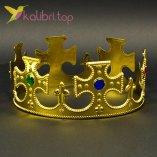 Корона праздничная Короля золото, оптом фото 1