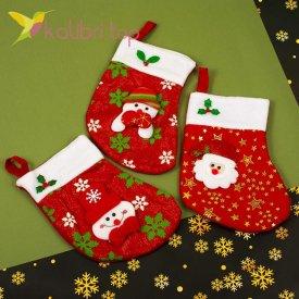 Сапожок для подарков маленький микс 1, оптом фото 1