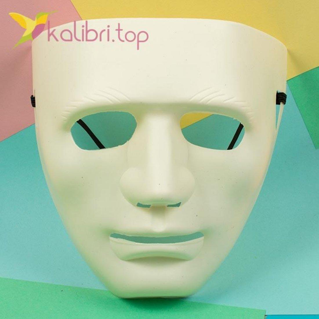 Маска карнавальная Каонаси белая, оптом фото 1