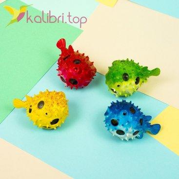 Детская игрушка антистресс Рыба Еж - фото 1