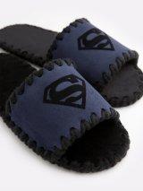 Мужские домашние тапочки Superman темно-синие открытые, Family Story - 1
