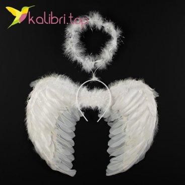 Набор карнавальные крылья ангела, нимб оптом фото 569