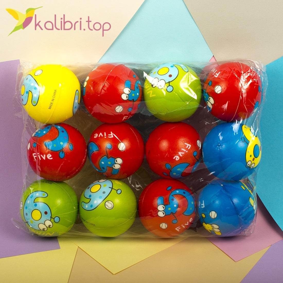 Мячи мягкие, поролоновые Цифры - Kalibri