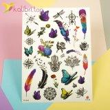 Детские, временные татуировки - бабочки и перья фото 1