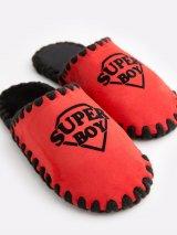 Детские домашние тапочки Super Boy красные закрытые, Family Story - 4