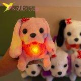 Собачки ходилки светящийся бант однотонный оптом фото 741