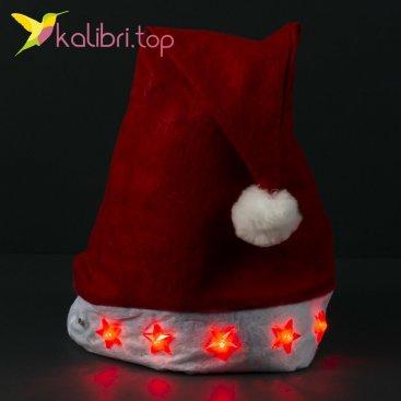 Шапка Деда Мороза светящиеся оптом фото 1145