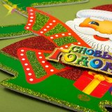 Новогодние украшения для окон, дверей Ёлка из пенопласта, оптом фото 2