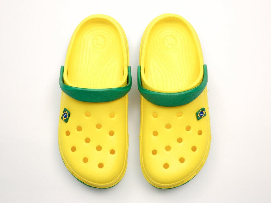 Желтые кроксы оптом C10-45, 4rest, мужская обувь оптом, фото 2