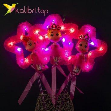 Светящиеся палочки куколки звезды малиновые оптом фото 11