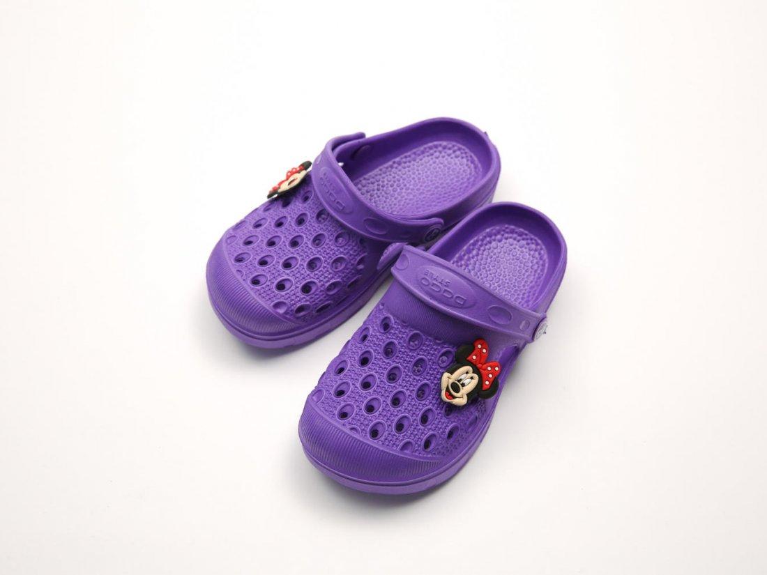 Фиолетовые кроксы оптом C20-34, 4rest, детская обувь оптом, фото 2