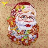 Новогодние наклейки Дед Мороз большой 61 см оптом фото 1477