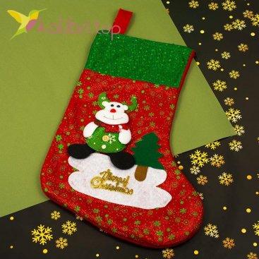 Сапожок для подарков большой зимний, оптом фото 2