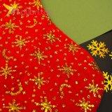 Носок для подарков большой с золотом, оптом фото 2