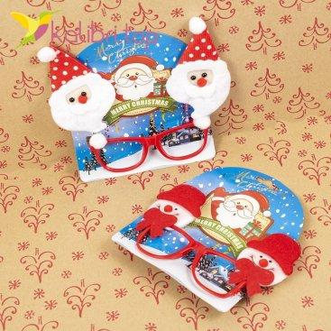 Новогодние очки Дед Мороз и снеговик РО-19 оптом фото 1221