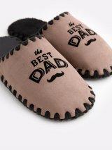 Мужские домашние тапочки The Best Dad мокко закрытые, Family Story - 3