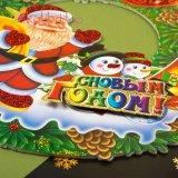 Новогодние украшения для окон, дверей снеговики из пенопласта, оптом фото 2