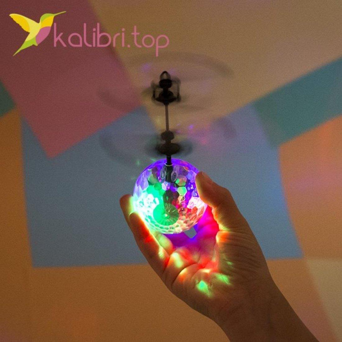 Летающий, светящийся шар Flying Ball прозрачный оптом - фото 2