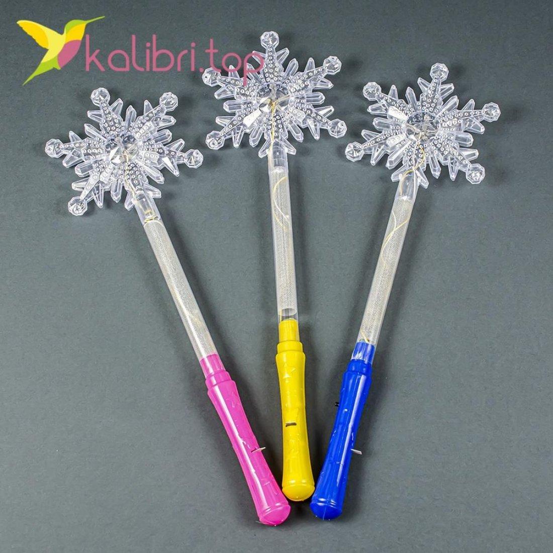 Светящиеся палочки снежинка прозрачная оптом 6967