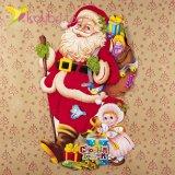 Новогодние наклейки Дед Мороз и эльф 64 см оптом фото 1933