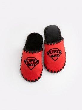 Детские домашние тапочки Super Boy красные закрытые, Family Story - 1