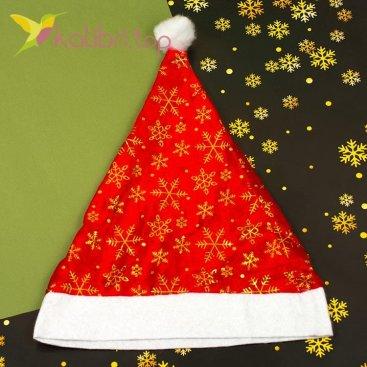 Новогодняя шапка Деда Мороза красивая, оптом фото 1