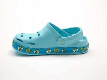 Бирюзовые кроксы оптом C12-34, 4rest, детская обувь оптом, фото 2