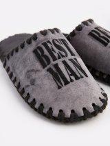 Мужские домашние тапочки Best Man графитовые закрытые, Family Story - 3