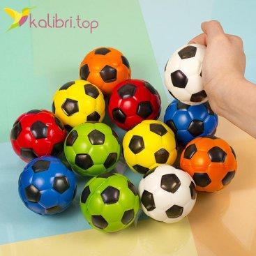 Мячики мягкие, поролоновые Футбол 6,3 см оптом фото 1