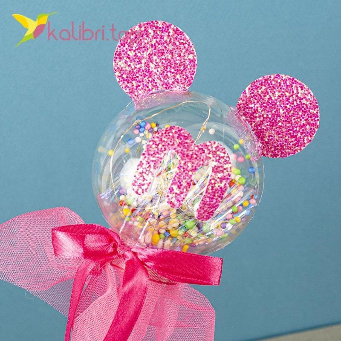 Светящиеся палочки Миккии розовые оптом фото 20