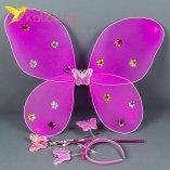 Карнавальные крылья бабочки малиновый оптом фото 1478
