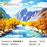 Рисования по номерам Осень в горах 30*40 см оптом фото 44