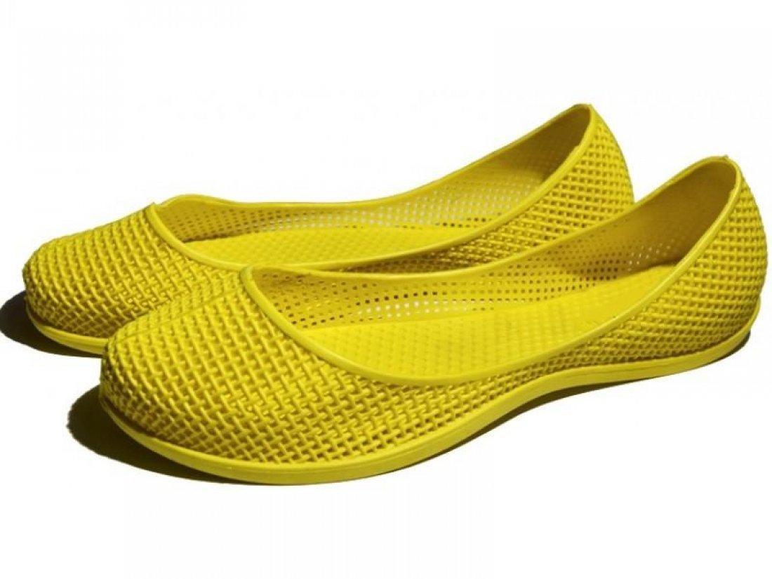 Женские балетки оптом оптом 1019 ПВХ желтые, 4rest, обувь оптом