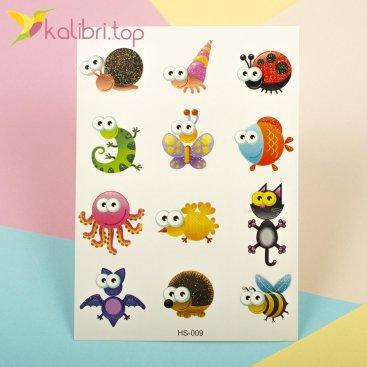 Детские татуировки с блесточками - букашки, мурашки Kalibri