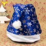 Шапки Деда Мороза со снежинками HQ-3599 оптом фото 1257
