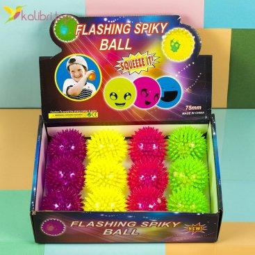 Мячики ёжики светящиеся оптом фото 1