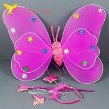 Набор карнавальный крылья феи малиновый оптом фото 024
