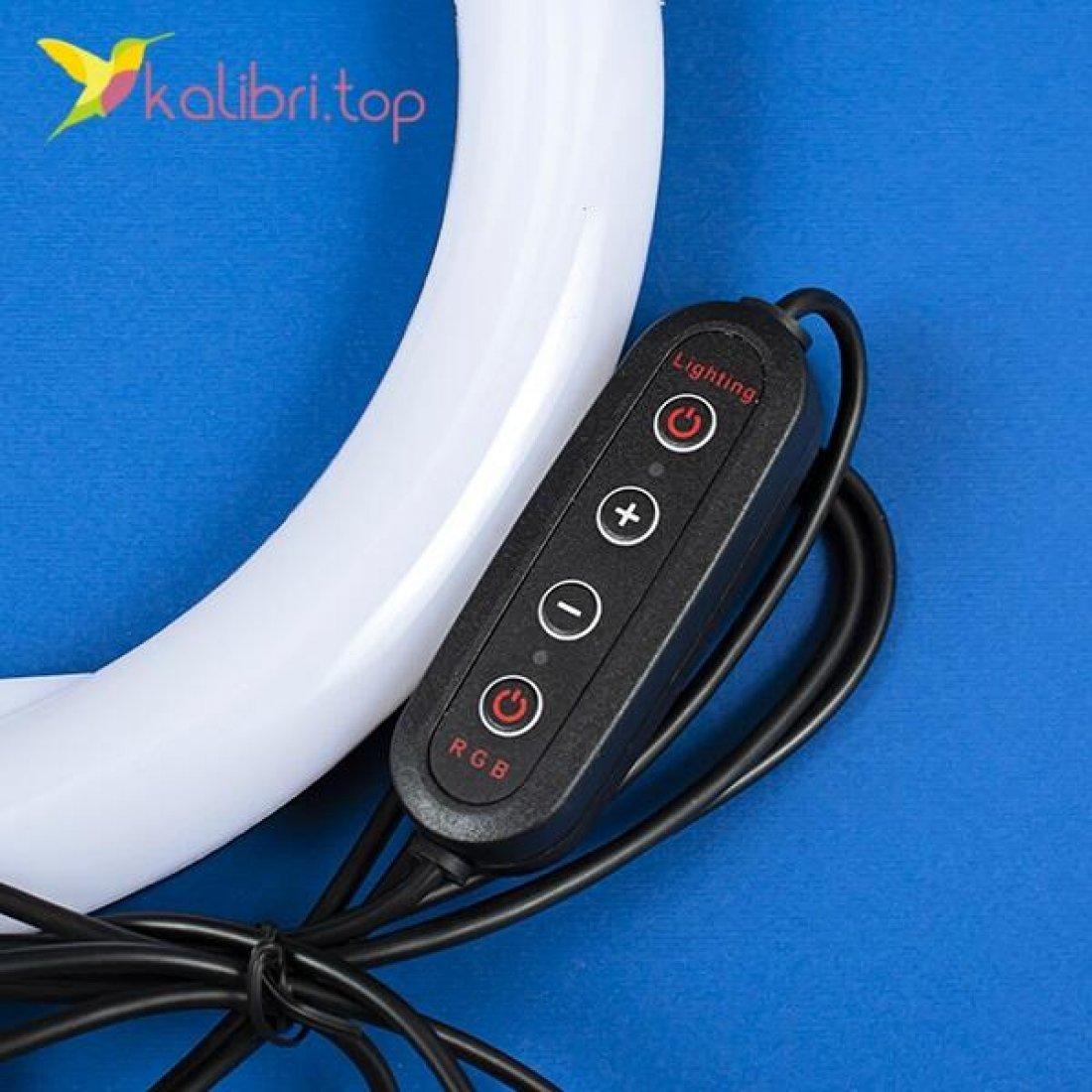 """Лампа для селфи RGB 10"""", 25 см оптом фото 03"""