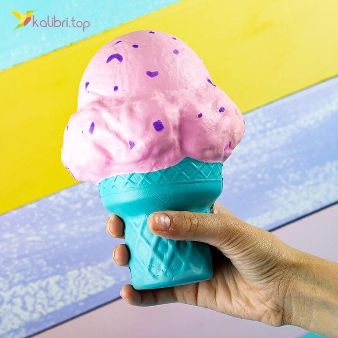 Сквиш Мороженое розовое оптом фото 01