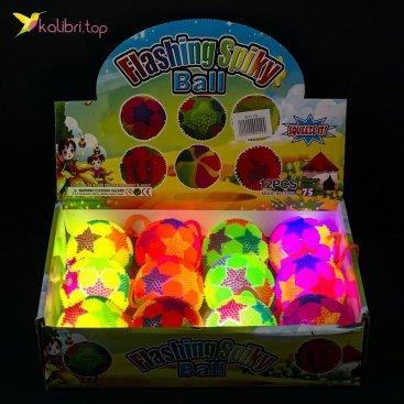 Мячики ёжики светящиеся цветные SA-19 оптом фото 01
