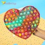 Поп ит (pop-it) сердце радужное XL оптом фото 01