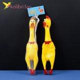 Резиновая кричащая курица 36 см оптом фото 02