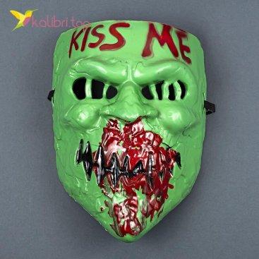 Маска карнавальная Поцелуй Kiss Me зелёная оптом фото 01