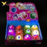 Мячики на резинке Глаза светящиеся 6,5 см оптом фото 01