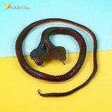 Силиконовые змеи кобры двухголовые коричневые оптом фото 06